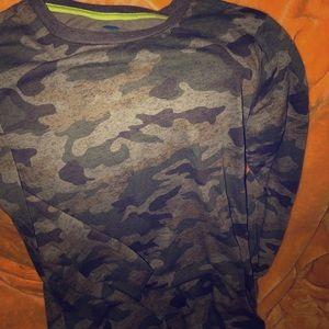 Boy camouflage longsleeve shirt
